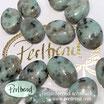 Edelstein Kiwi Jaspis oval flach 30 mm