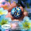 Fingerring Frangipani Blue 3 Flowers