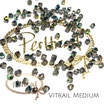 Crystal Vitrail Medium Bicone Bead 4 mm