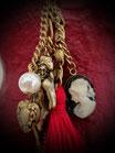Halskette Engel-Cameo-Herz goldfarben