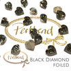 Black Diamond Heart Fancy Stone 11 x 10 mm