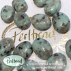 Edelstein Kiwi Jaspis oval flach 20 mm