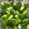 Katzenauge Glasperle Hellgrün 10mm facettiert