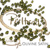 Olivine Satin Bicone Bead 4 mm