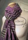 Schal Violett Karo breit
