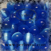 Katzenauge Glasperle Blau 4mm