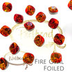 Fire Opal Fancy Stone Round Square Cushion  12 mm