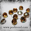 Crystal Copper Xilion Chaton Round Stone 8mm