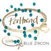 Blue Zircon Facet Bead 4 mm