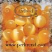 Katzenauge Glasperle Apricot 6mm