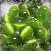 Katzenauge Glasperle Hellgrün 6mm