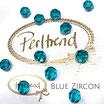 Blue Zircon Facet Bead 8 mm