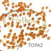 Topaz Bicone Bead 4 mm