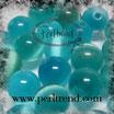 Katzenauge Glasperle Türkisblau 6mm