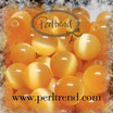 Katzenauge Glasperle Apricot 4mm