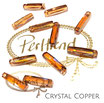 Crystal Copper Column Pendant 20 mm