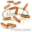 Crystal Copper Column Pendant 20 mm