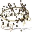 Smoky Quartz Bicone Bead 4 mm