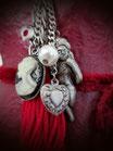 Halskette Engel-Cameo-Herz silberfarben