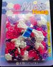 Miss Hama Blumenperlen Set rosa-weiss-violett
