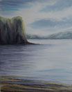 """""""Eclaircie sur le Loch """" - Aquarelle"""