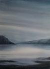 """"""" Brume sur le Loch """" - Aquarelle"""