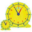 Ensemble d'horloges d'enseignement