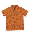 "chemise orange ""tigre"" MC, Frugi"