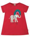 """t-shirt tunique rouge """"éléphant"""" manches courtes, Frugi"""