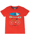 "t-shirt ""koi"" rouge manches courtes, Frugi"