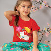 """t-shirt rouge """"chat"""" manches courtes, Frugi"""