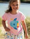 """t-shirt rosé """"poisson"""" manches courtes, Frugi"""