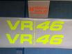 """2 lettrages """"VR/46""""  pour les ailes avant de phase 4"""