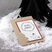 """Weihnachtskarte """"Schneemann"""" kraft-rot mit Kordel"""