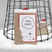 "Weihnachtskarte ""Flocke"" kraft-rot"