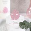 """Tischkarte """"Arche Noah"""", rosa"""