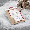 "Weihnachtskarte ""Coming Home"" kraft-rot"