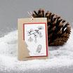 "Weihnachtskarte ""Eufemia"" kraft-rot mit Kordel"