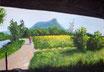 An der Saale - Format: 70 x 100 cm - Acryl auf Leinwand