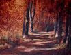 Entlang der Saale - Format: 70 x 90 cm - Acryl auf Leinwand
