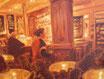 Nachtcafè - Format: 40 x 50 cm - Acryl auf Leinwand