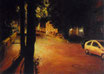 Camsdorfer Ufer bei Nacht - Format: 50 x 70 cm - Acryl auf Leinwand