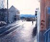 Vorfrühling - Format: 50 x 60 cm - Acryl auf Leinwand