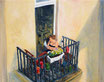 Der Balkon - Format: 40 x 50 cm - Acryl auf Leinwand