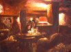 Café Immergrün - Format: 30 x 40 cm - Acryl auf Leinwand
