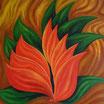 Blütenphantasie - Format: 60 x 60 cm - Acryl auf Leinwand