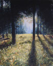 Waldblick - Format: 90 x 70 cm - Acryl auf Leinwand