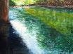Saaleufer im Frühling - Format: 60 x 80 cm - Acryl auf Leinwand
