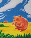 Biskyhamster - Format: 60 x 50 cm - Acryl auf Leinwand