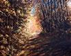 Herbstlauf - Format: 40 x 50 cm - Acryl auf Leinwand